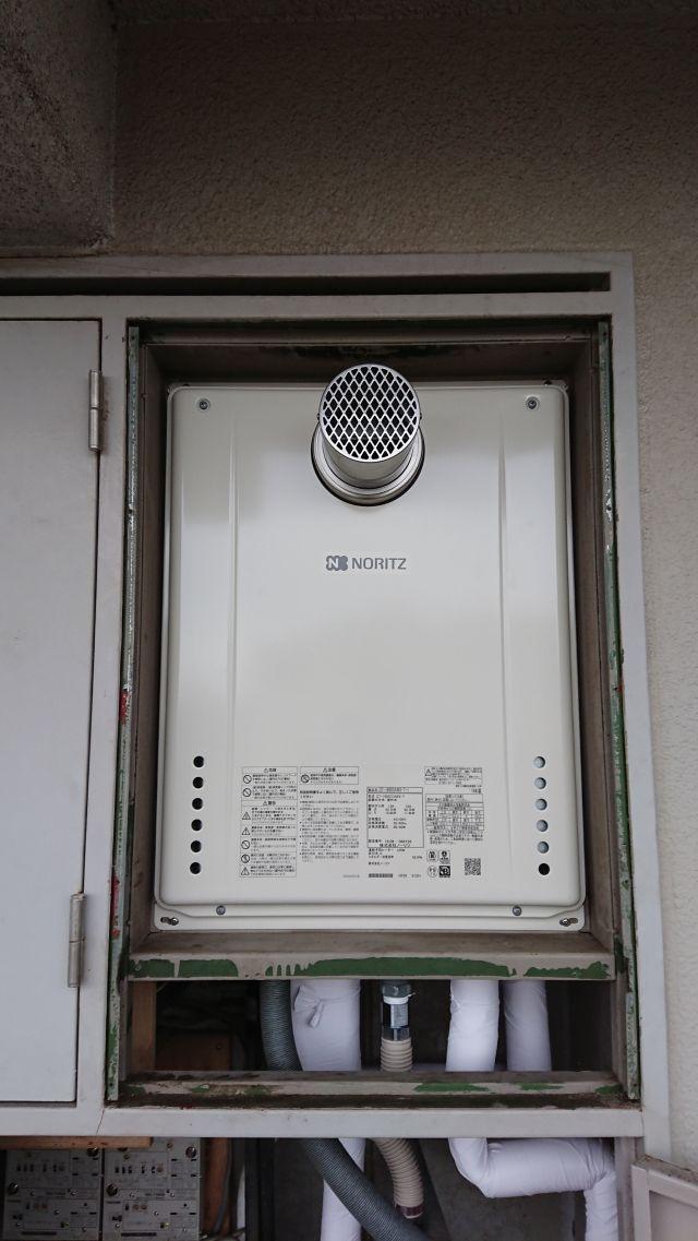 柏市冨里-GT-1660SAWX-T-1 BL-施工後 給湯器交換
